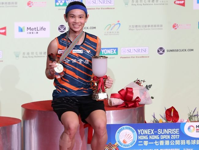 Tai Tzu Ying won the champion at Hong Kong Open two years in a row